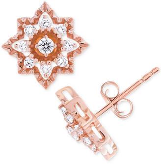 Wrapped in Love Diamond Star Stud Earrings (1/3 ct. t.w.) in 14k Rose Gold