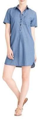 J. Crew Mercantile Short-Sleeve Chambray Shirtdress