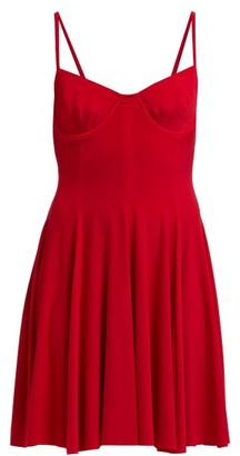Norma Kamali Underwire Stretch Jersey Mini Dress - Womens - Red