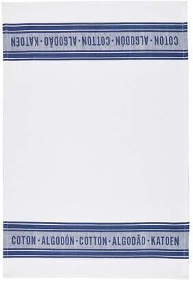 Kitchen Craft Classic Navy Jacquard 100% Cotton Tea Towels, 70cm X 47cm, Set Of 2