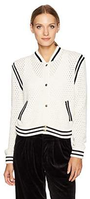 Juicy Couture Black Label Women's Mesh Stitch Hollywood Bomber