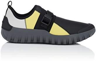 Prada Men's Buckle-Strap Neoprene Sneakers