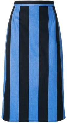 Prada striped pencil skirt