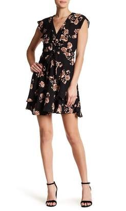 Collective Concepts V-Neck Ruffle Front Dress