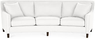 Cayman Curved Sofa - White Linen - Miles Talbott