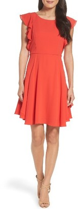 Women's Julia Jordan Ruffle Fit & Flare Dress $138 thestylecure.com