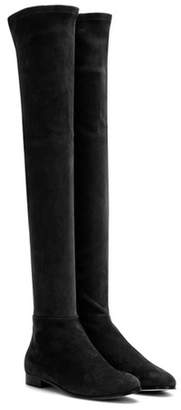 Jimmy Choo Myren Flat suede over-the-knee boots