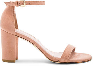 Stuart Weitzman Nearlynude Heel in Blush $398 thestylecure.com