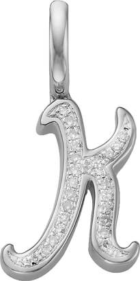Monica Vinader Sterling silver and diamond letter k pendant