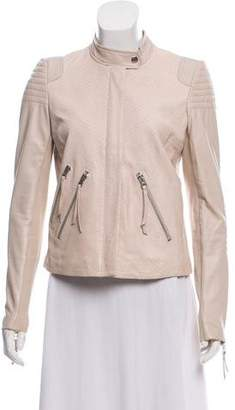 Rebecca Taylor Embossed Leather Jacket