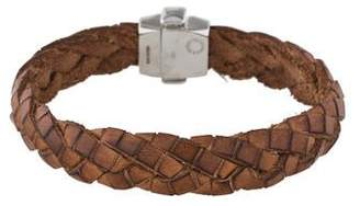 Tateossian Braided Leather Wrap Bracelet