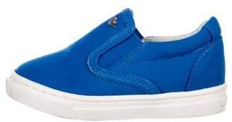 Armani Junior Boys' Canvas Slip-On Sneakers