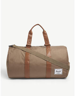 Herschel Brown Woven Novel Canvas Duffel Bag