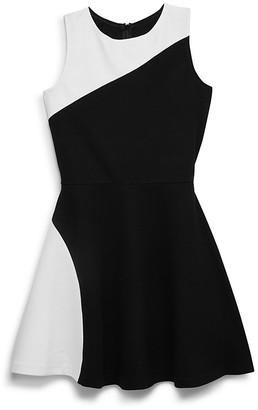 AQUA Girls' Color-Block Flared Dress, Big Kid - 100% Exclusive $72 thestylecure.com