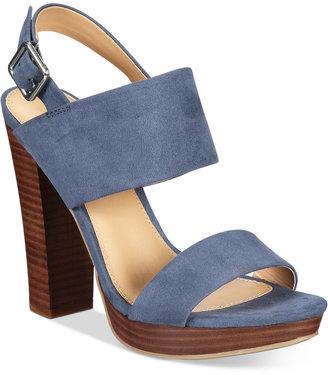 Report Lawrena Two-Piece Platform Sandals $59 thestylecure.com