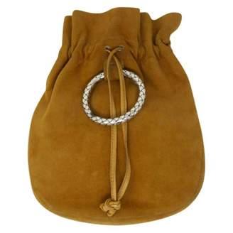 Bottega Veneta Vintage Camel Suede Clutch Bag