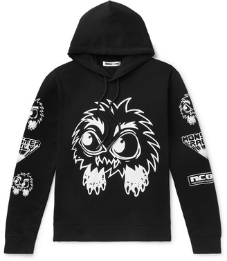 McQ Monster Rally Printed Loopback Cotton-Jersey Hoodie - Men - Black
