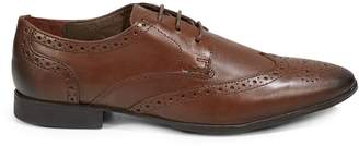 Topman Fly Brogue Leather Shoes