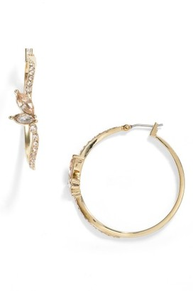 Women's Jenny Packham Glistening Shadows Pave Hoop Earrings $48 thestylecure.com