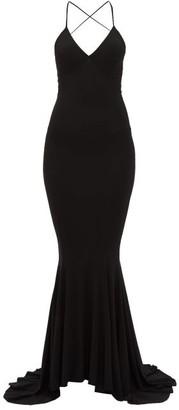 Norma Kamali Fish Tail Jersey Maxi Dress - Womens - Black