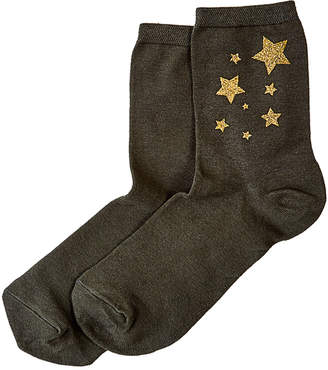 Hue Metallic Star Shortie Socks