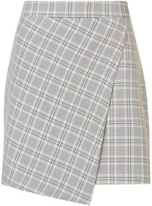 Dorothy Perkins Womens Grey Summer Check Print Mini Skirt