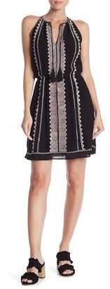 Dex Embroidered High Neck Dress