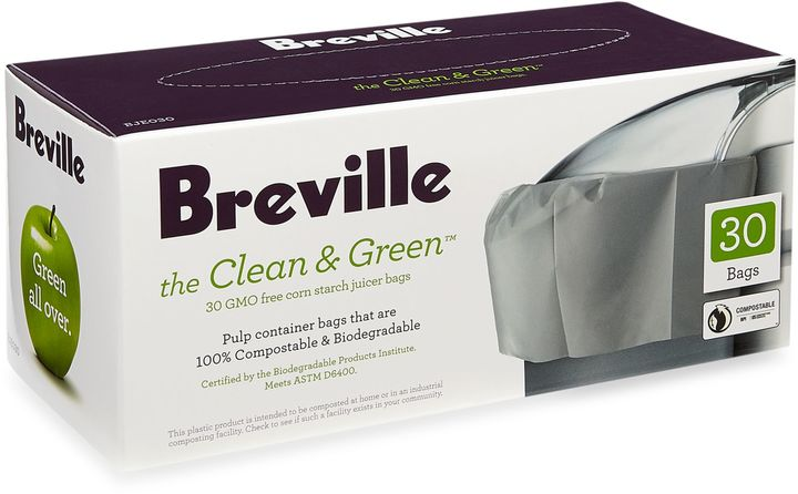 Breville the Clean & GreenTM 30-Count Juicer Bags