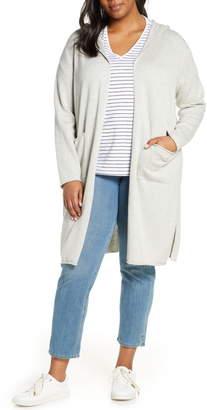 Eileen Fisher Organic Cotton Hooded Cardigan