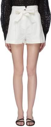 Frame 'Tie Up' linen-cotton shorts
