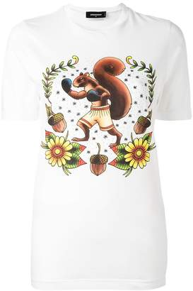 DSQUARED2 boxing squirrel t-shirt