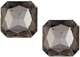 Emily and Ashley Greenbeads By Cushion-Cut Crystal Stud Earrings, Gray