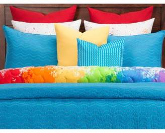 Crayola Cerulean Stitched Coverlet Set (Full/Queen)