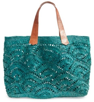 Mar Y Sol Tulum Tote - Blue/green $139 thestylecure.com