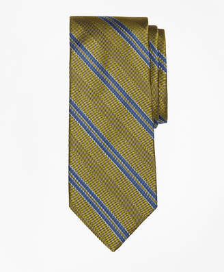 Brooks Brothers Herringbone Double Stripe Tie