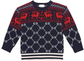 Gucci Kids Intarsia wool sweater