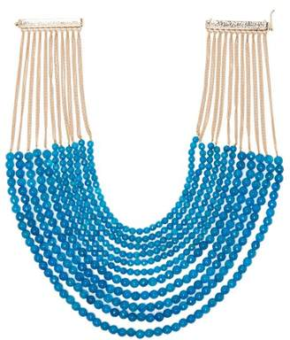 Rosantica By Michela Panero - Raissa Beaded Necklace - Womens - Blue