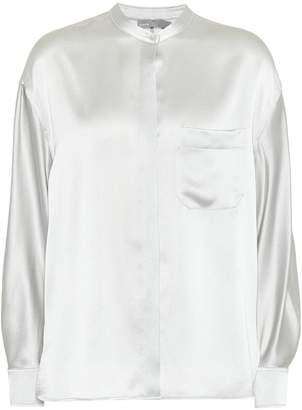 Vince Crepe satin blouse