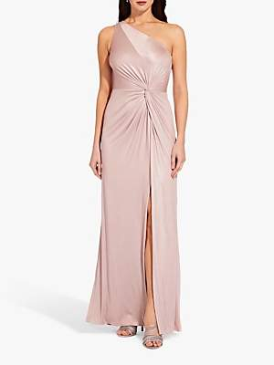 Adrianna Papell Foil Long Jersey Dress, Dusted Petal