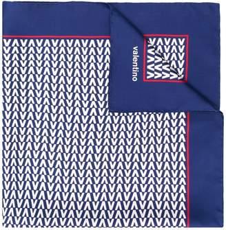 Valentino logo print neck scarf
