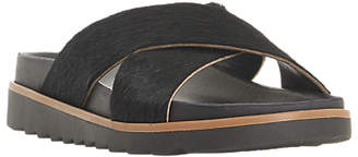 Bertie Lyberty Cross Strap Sandals, Black