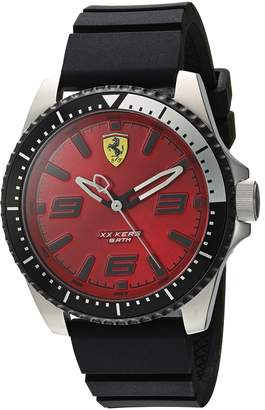 Ferrari Men's 'XX Kers' Quartz Stainless Steel and Silicone Casual Watch, Color:Black (Model: 0830463)