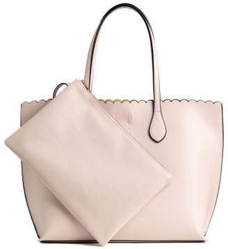 H&M Shopper with Clutch Bag - Beige