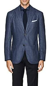"Boglioli Men's ""K Jacket"" Cashmere-Blend Two-Button Sportcoat-Blue"