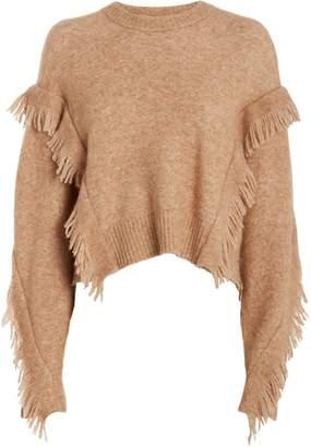 3.1 Phillip Lim Fringe Wool-Blend Cropped Sweater