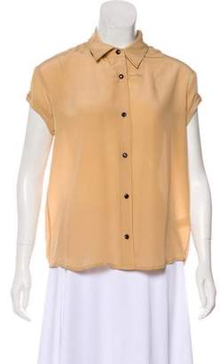 Rebecca Minkoff Silk Button-Up Top