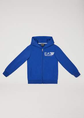 Emporio Armani Ea7 Hooded Cotton Sweatshirt
