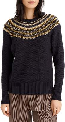 J.Crew Sparkly Fair Isle Sweater