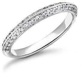 Duet Pavé Diamond Ring in Platinum (1/3 ct. tw.)