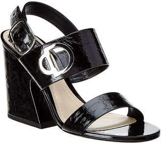 Christian Dior Color Block Lip Patent Sandal